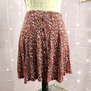 DONT ASK WHY Pink Floral Skater Skirt